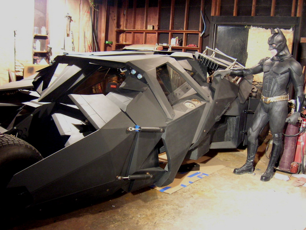 Amazing Home Made Batmobile Tumbler Replica Carscoops