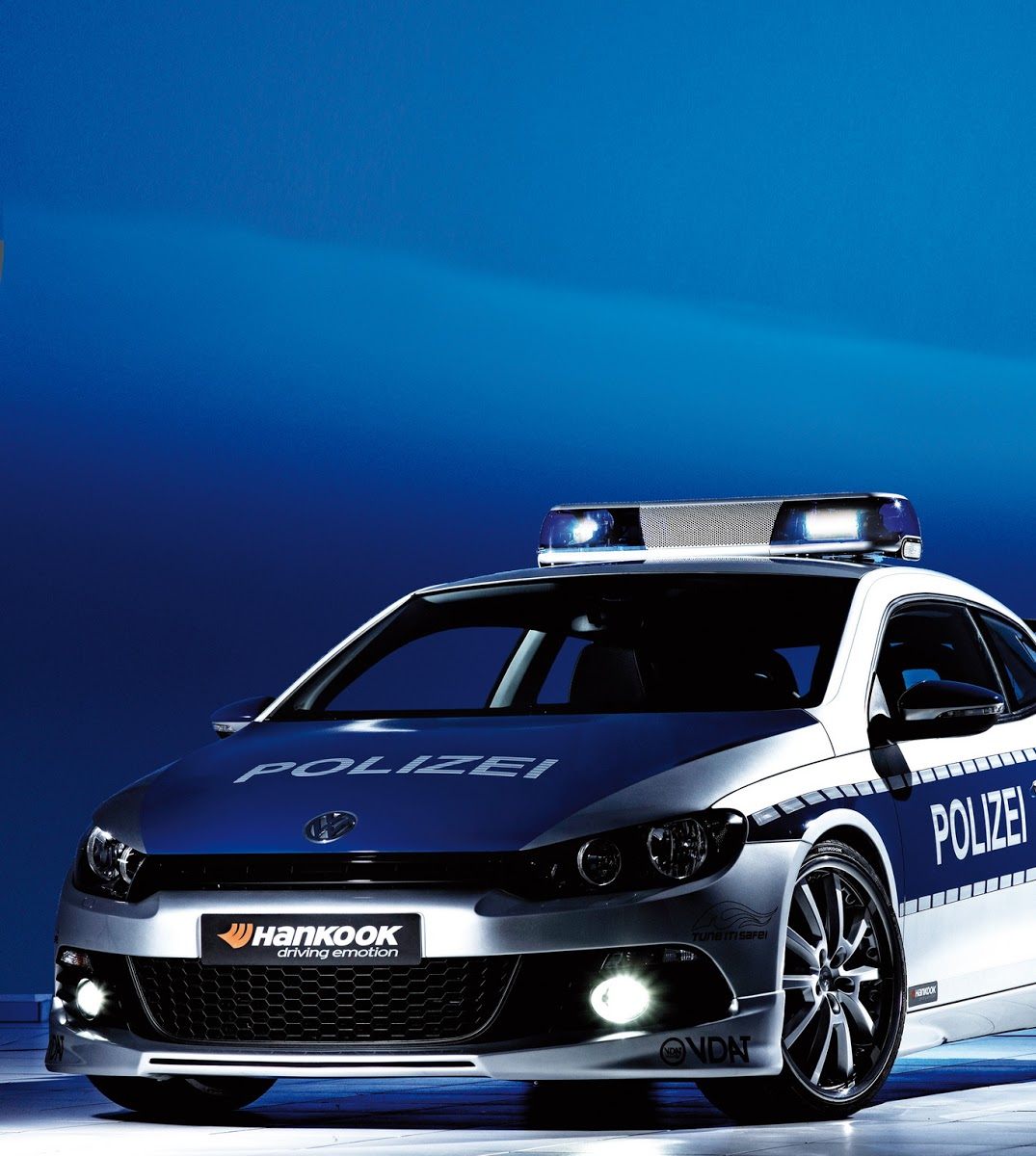 VW Scirocco Police Car Heads to 2009 Essen Motorshow ...