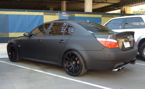 Reader Spotting Matte Black Bmw M5 V10 Carscoops