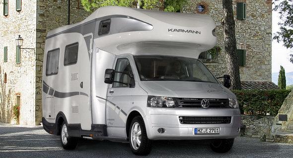 karmann mobil presents new mobile home based on 2010 vw t5. Black Bedroom Furniture Sets. Home Design Ideas
