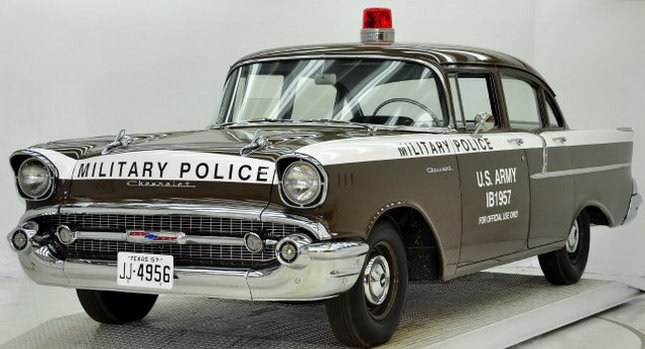 copped-out: 1957 chevy military police car for sale | carscoops