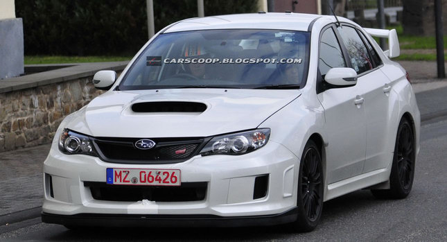 spied 2011 subaru impreza wrx sti spec c sedan scooped at. Black Bedroom Furniture Sets. Home Design Ideas