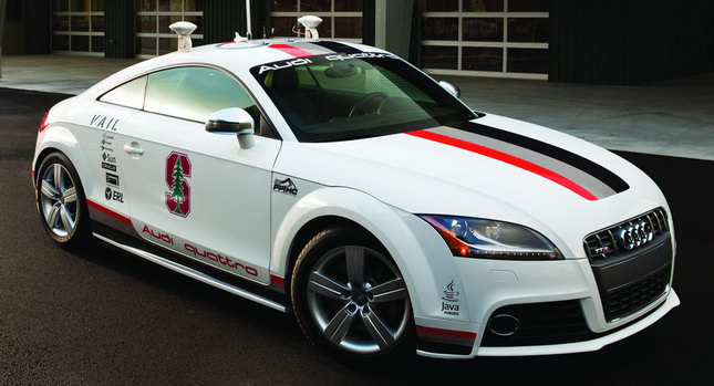 audi tts pikes peak driverless model wears its war colors. Black Bedroom Furniture Sets. Home Design Ideas