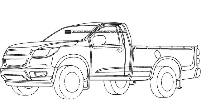 patent drawings reveal new chevrolet pickup truck