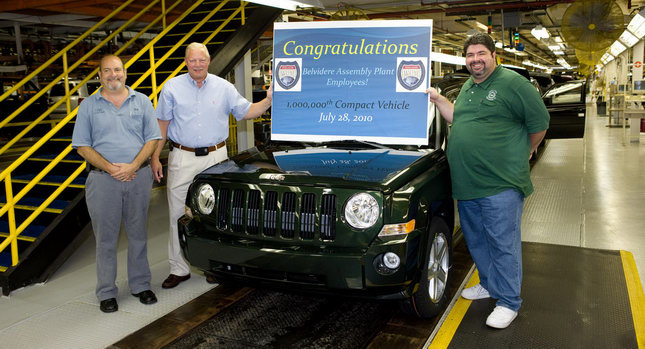 Chrysler Group 39 S Belvidere Plant Rolls Out One Millionth