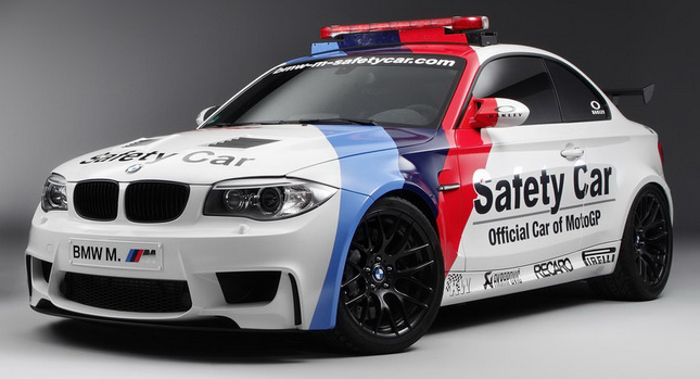 Bmw Introduces One Off 1 Series M Coupe Motogp Safety Car Carscoops
