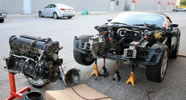 Pontiac Solstice gets an Engine Transplant from a Toyota Supra