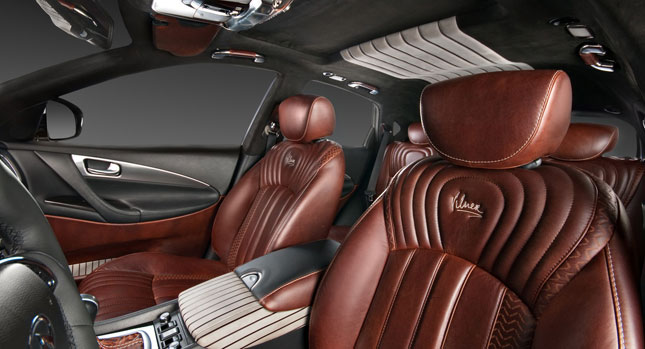 vilner goes over the top with infiniti ex37 interior tune carscoops. Black Bedroom Furniture Sets. Home Design Ideas