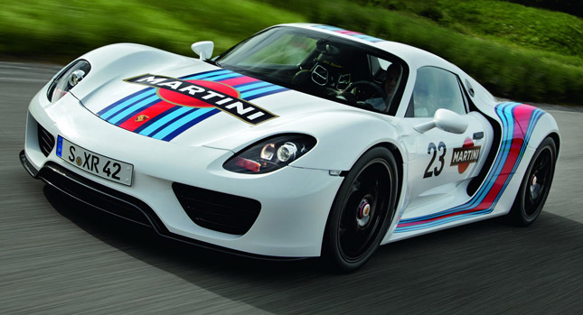 Porsche Seals Deal With Martini To Offer Special Racing Livery On 918 Spyder Plug In Hybrid
