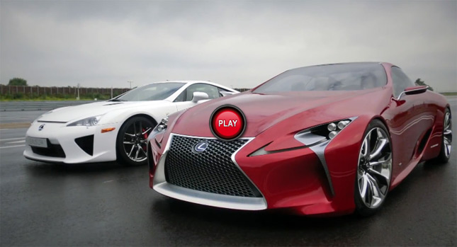 Lexus LFA Meets Up With LF LC Concept Study For A Photo Shoot