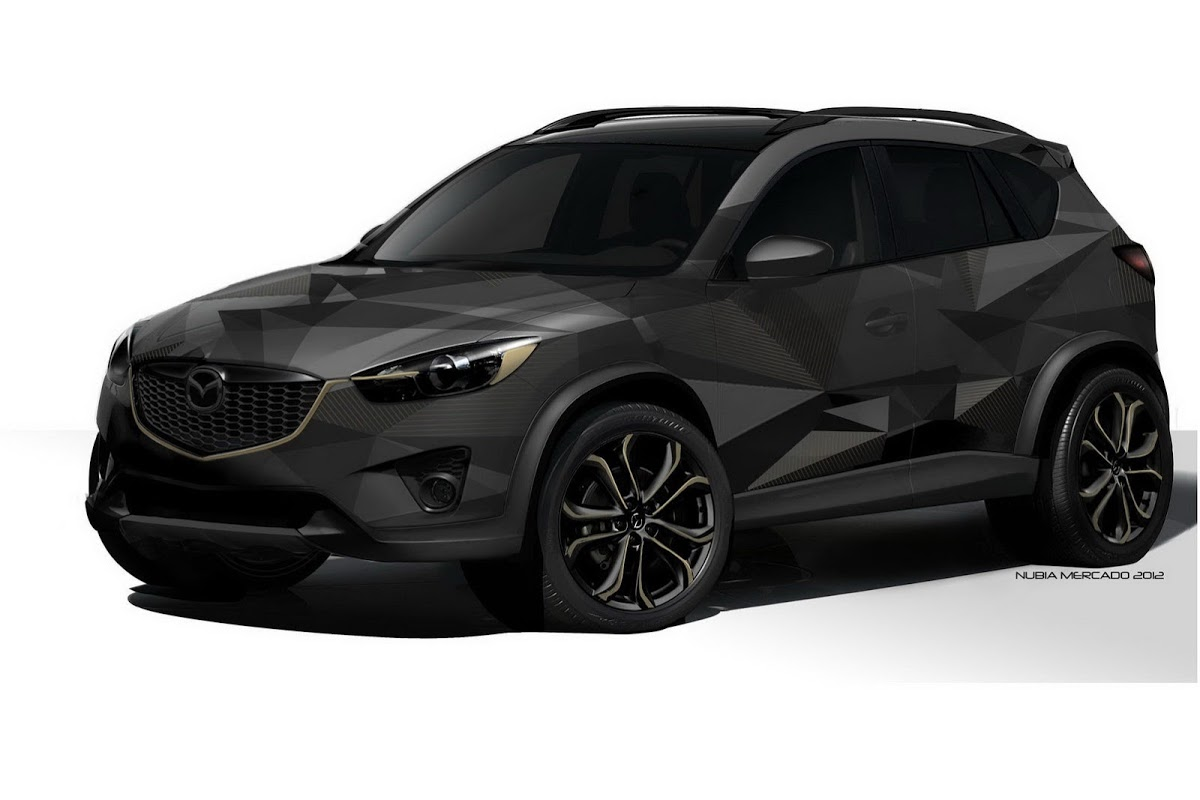 mazda brings 3 concept versions of cx 5 crossover to sema including a diesel variant carscoops. Black Bedroom Furniture Sets. Home Design Ideas