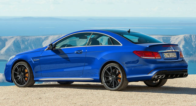 Refreshed 2014 Mercedes Benz E Class Coupe Gets A Digital E63 Amg