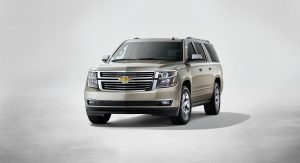 2015 Chevrolet Suburban in Champagne front from New York reveal