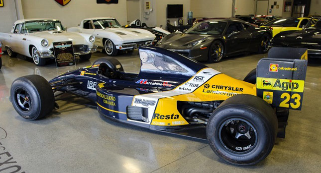 Care For A 1992 Lamborghini Minardi F1 Race Car It S Up For Sale