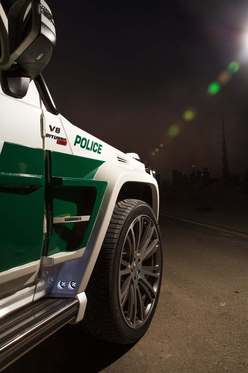 Brabus Surprises Dubai Police With B63s 700 Widestar