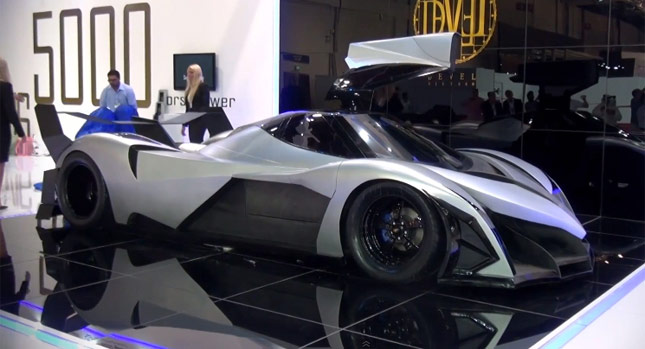 Devel Sixteen Hyper-Claims 5,000HP, 0-100 KM/H in 1 8