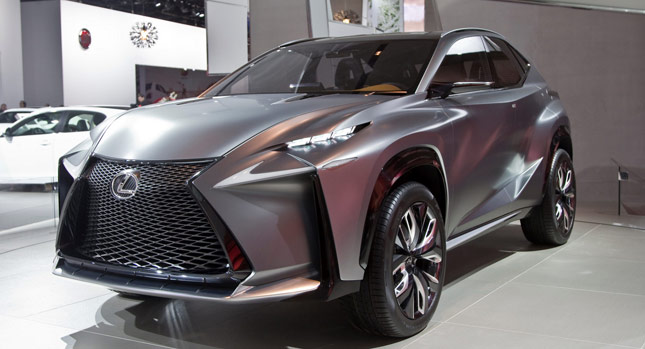 lexus lf nx compact suv concept slices through detroit carscoops. Black Bedroom Furniture Sets. Home Design Ideas