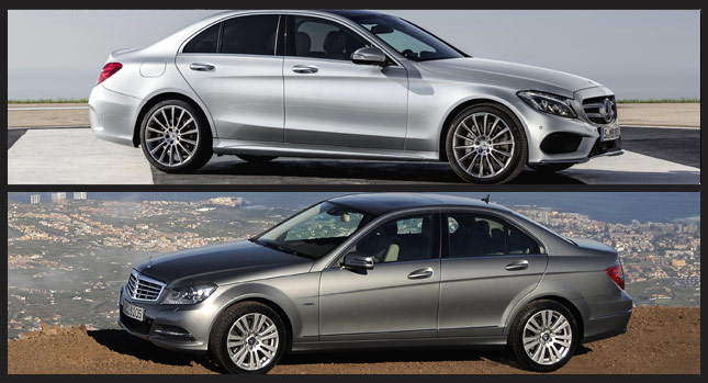 New Mercedes C-Class W205 Visually Compared to Old C-Class