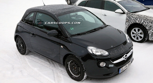 scoop another close look at the new opel adam cabrio carscoops. Black Bedroom Furniture Sets. Home Design Ideas
