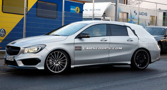 Spied Mercedes Benz Cla 45 Amg Gets Roomier With Shooting Brake