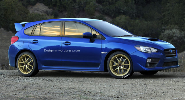 new 2015 subaru wrx sti illustrated as a five door hot hatch carscoops. Black Bedroom Furniture Sets. Home Design Ideas