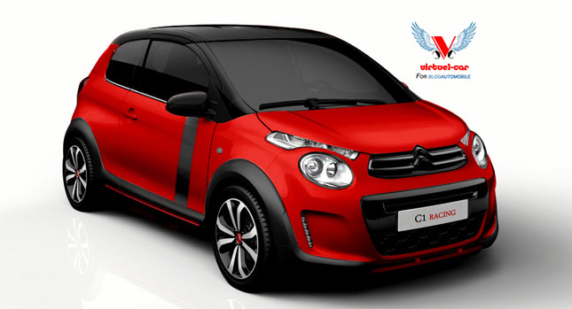 new citroen c1 mini envisioned in a spicier racing guise carscoops. Black Bedroom Furniture Sets. Home Design Ideas