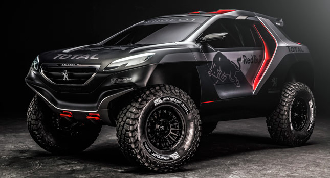 peugeot s 2008 dkr is an awesome looking two wheel drive buggy w videos carscoops. Black Bedroom Furniture Sets. Home Design Ideas