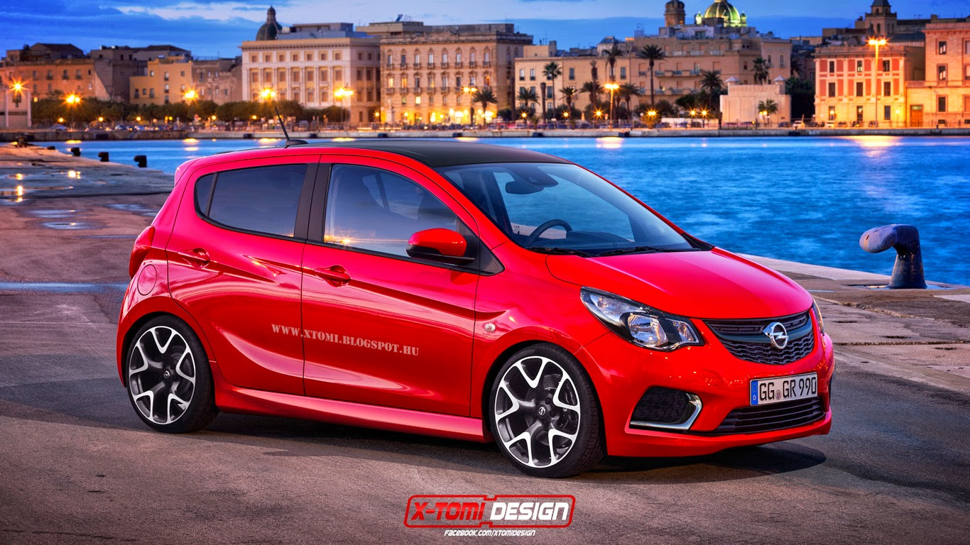 new opel karl puts on a virtual opc kit carscoops. Black Bedroom Furniture Sets. Home Design Ideas