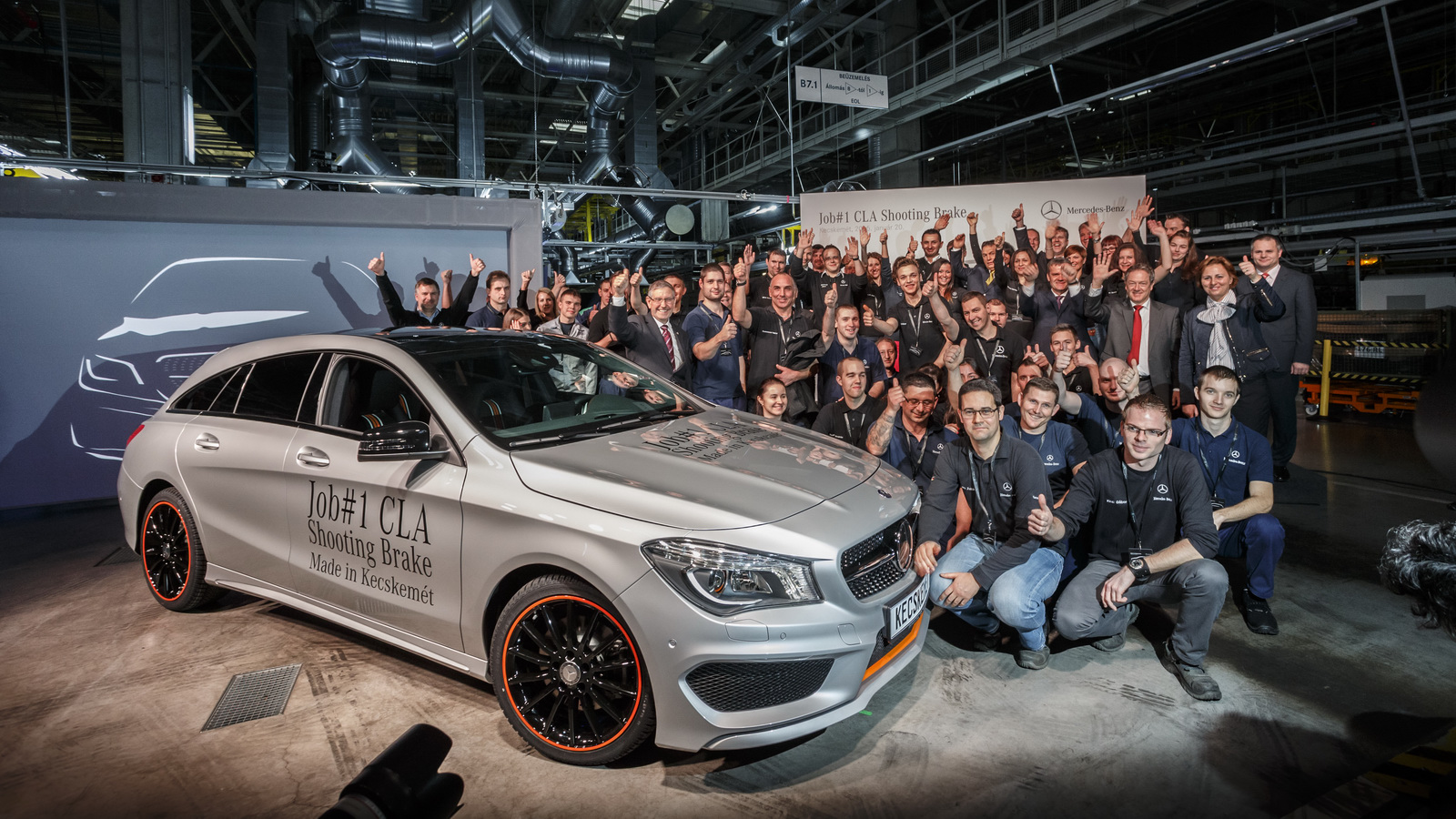 Mercedes Hungary Plant Started Production Of The Cla Shooting Brake Carscoops