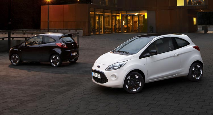 Ford Has Announced The Introduction Of Black And White Editions For Fiesta Ka In Europe With New Models Offering Contrasting Color Combinations