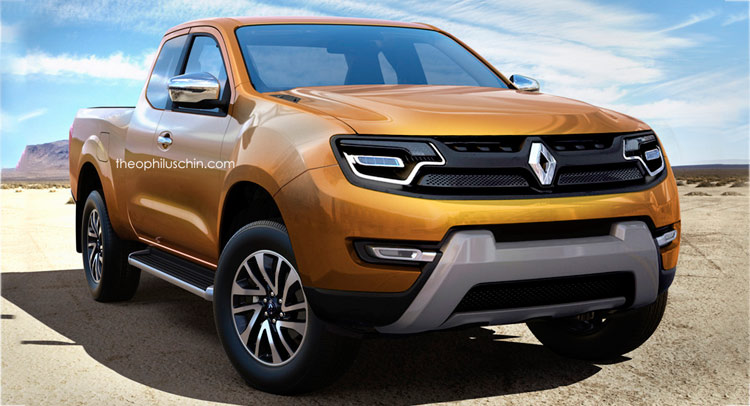 renault pickup truck could look like this carscoops. Black Bedroom Furniture Sets. Home Design Ideas