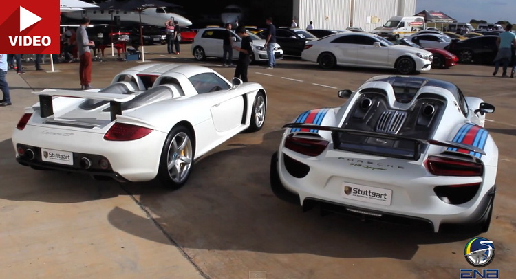 Past Vs. Present: Porsche Carrera GT Takes On 918 Spyder | Carscoops