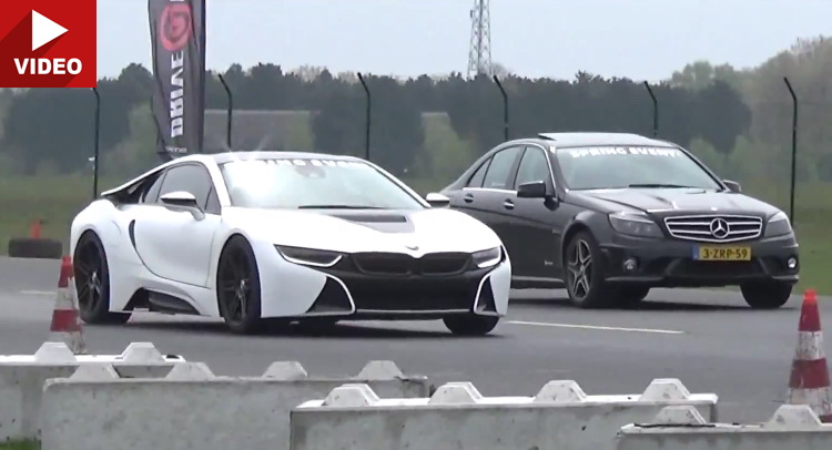 Manhart Bmw I8 Proves Fast Enough To Keep Mercedes C63 Porsche Gt3