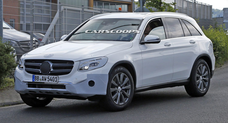 New Mercedes Benz Glc Compact Suv Spied Almost Undisguised
