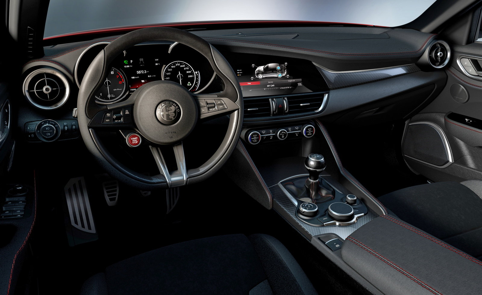 Alfa Romeo Giulia Reveals Its Dashboard Carscoops