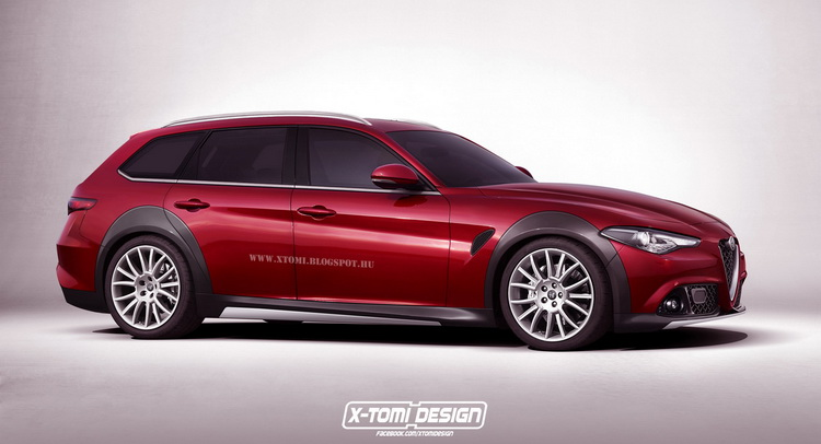 alfa romeo giulia 39 crosswagon 39 rendering isn 39 t about to scare audi carscoops. Black Bedroom Furniture Sets. Home Design Ideas