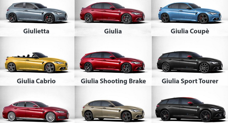 Check Out This Awesome Hypothetical Alfa Romeo Model LineUp - Alfa romeo model