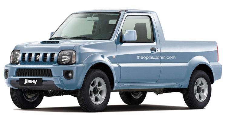 Super Sure, We'll Take This Suzuki Jimny Pickup Rendering   Carscoops @BV_24