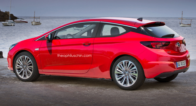 new renderings prove a new opel astra gtc three door would. Black Bedroom Furniture Sets. Home Design Ideas