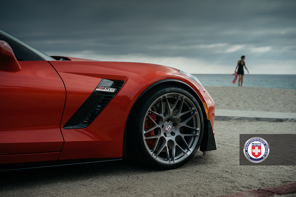 Daytona Orange C7 Corvette Z06 Puts On Brushed Titanium Wheels Carscoops
