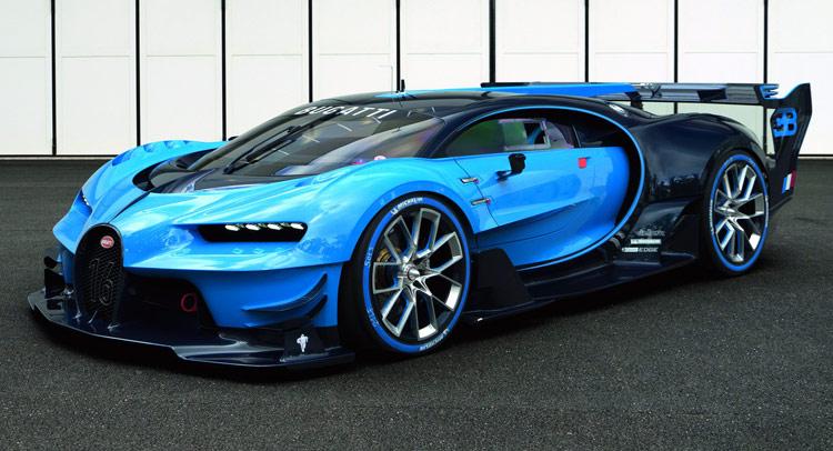 bugatti unveils the full-scale vision gran turismo show car | carscoops