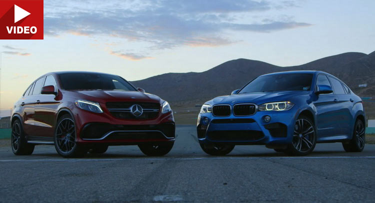 Mercedes Amg Gle 63 S Coupe Head Butts Bmw S X6 M For The Title Of