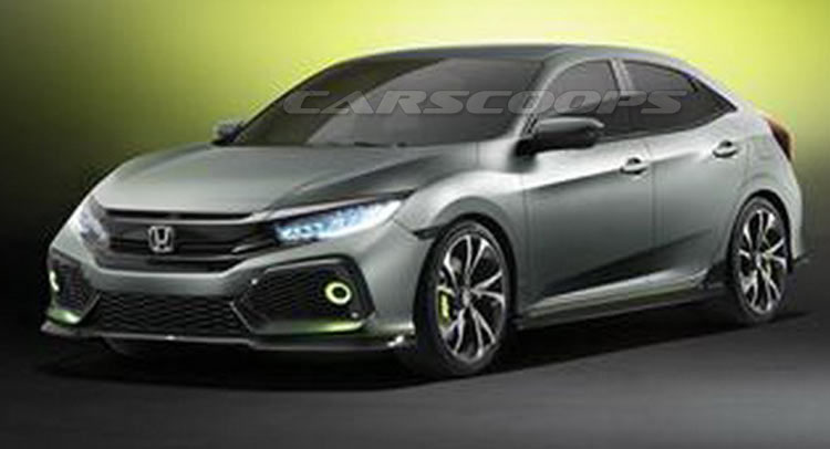 First Photos Of Hondas New Civic Hatchback Concept