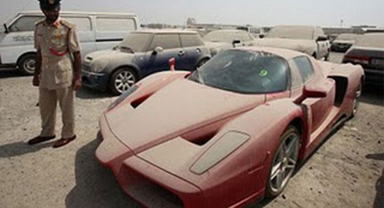 Dubai Police Can't Sell Impounded Ferrari Enzo Due To Legal Dispute