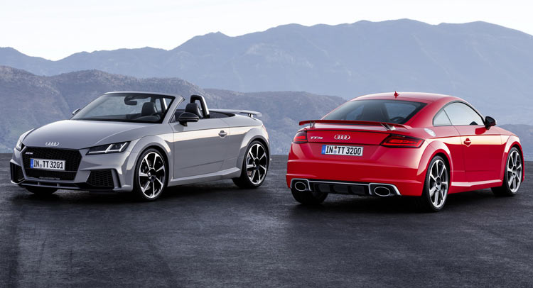 2017 Audi Tt Rs Roadster Coupe Bring Five Cylinders With 400 Horses Carscoops
