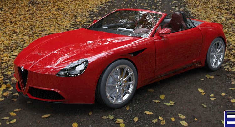 New Alfa Romeo >> New Alfa Romeo Spider Imagined With Quadrifoglio Flavor Carscoops