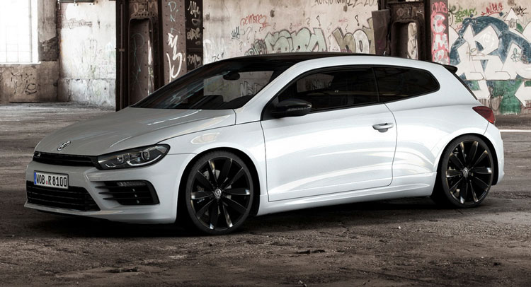 vw freshens scirocco r with black style pack. Black Bedroom Furniture Sets. Home Design Ideas