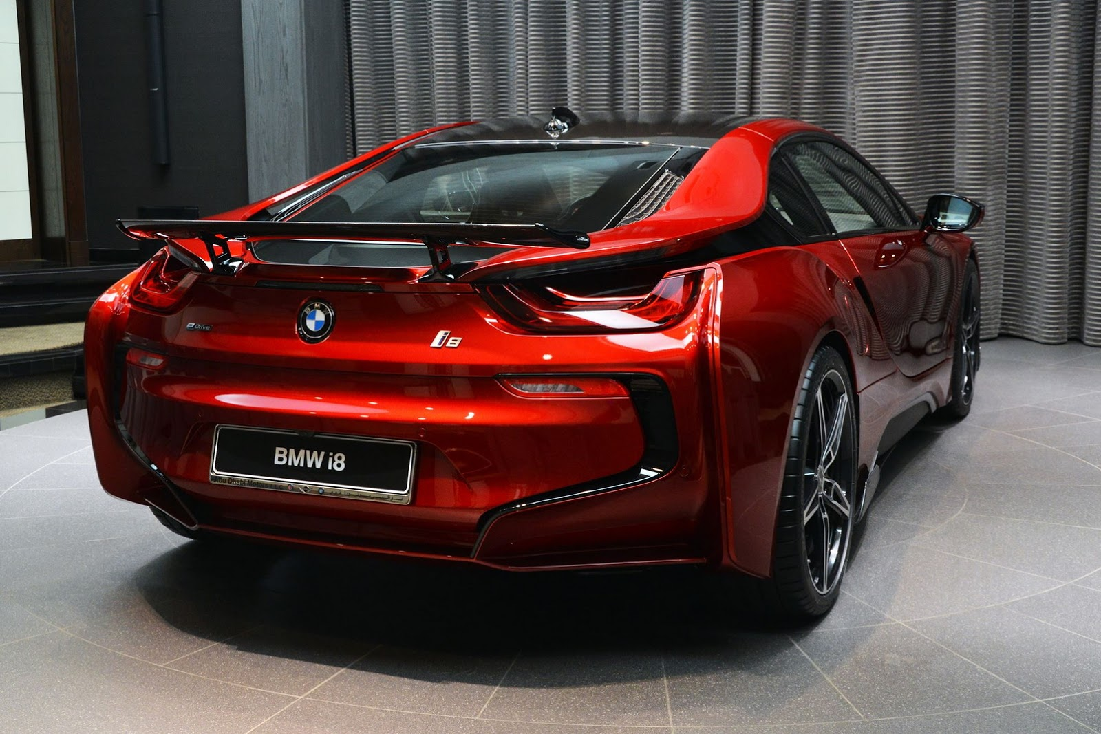 This Custom Lava Red Bmw I8 Is Dripping Hot Carscoops