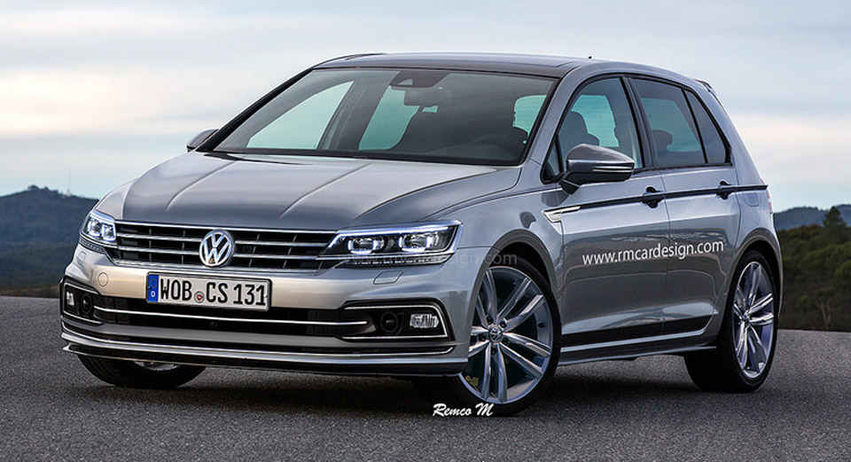 2019 golf 8 rendered in line with vw 39 s latest models carscoops. Black Bedroom Furniture Sets. Home Design Ideas