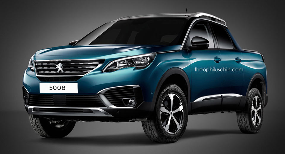 new peugeot 5008 dreams of the countryside in pickup form carscoops. Black Bedroom Furniture Sets. Home Design Ideas